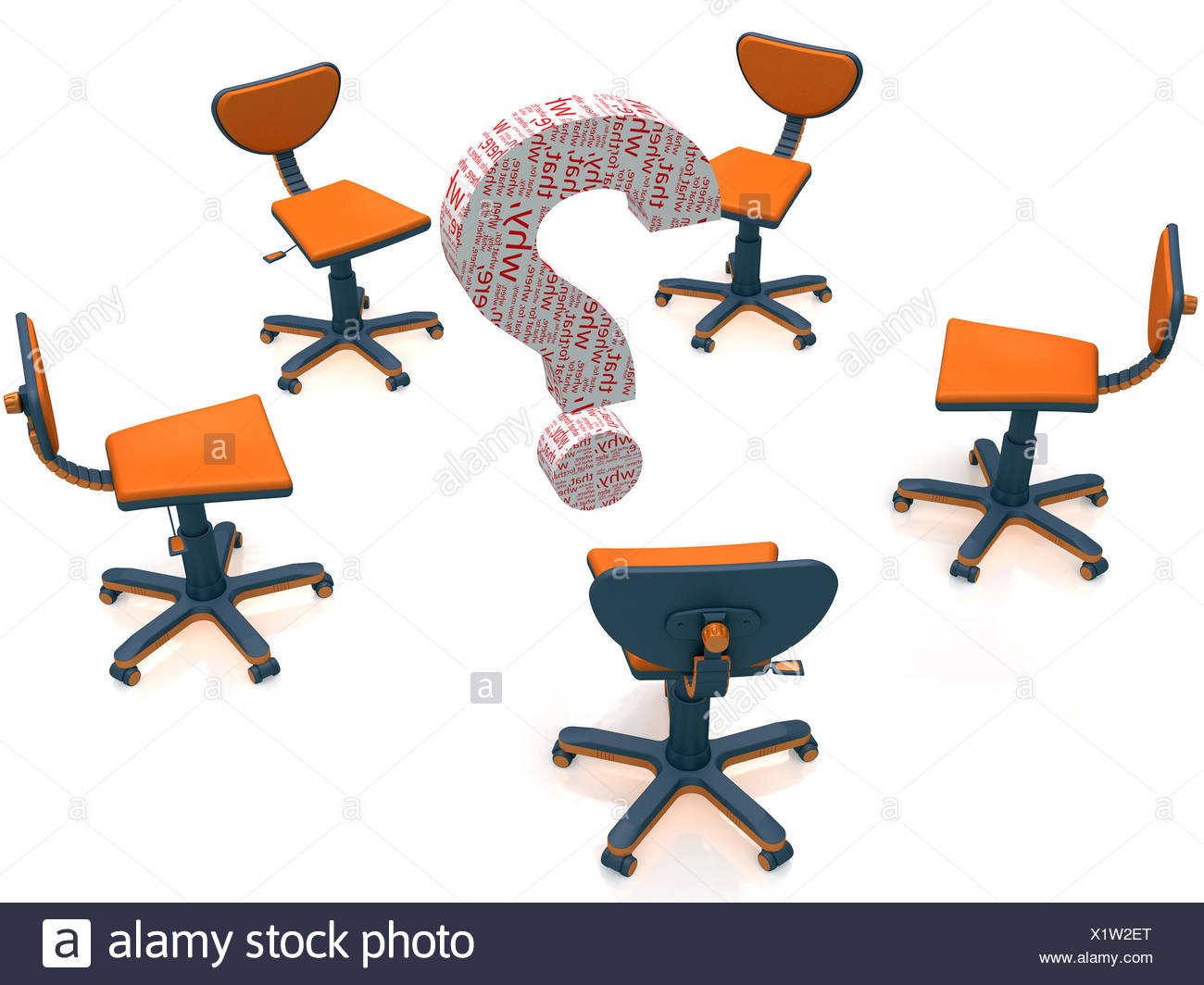 discussion and the question - Stock Image