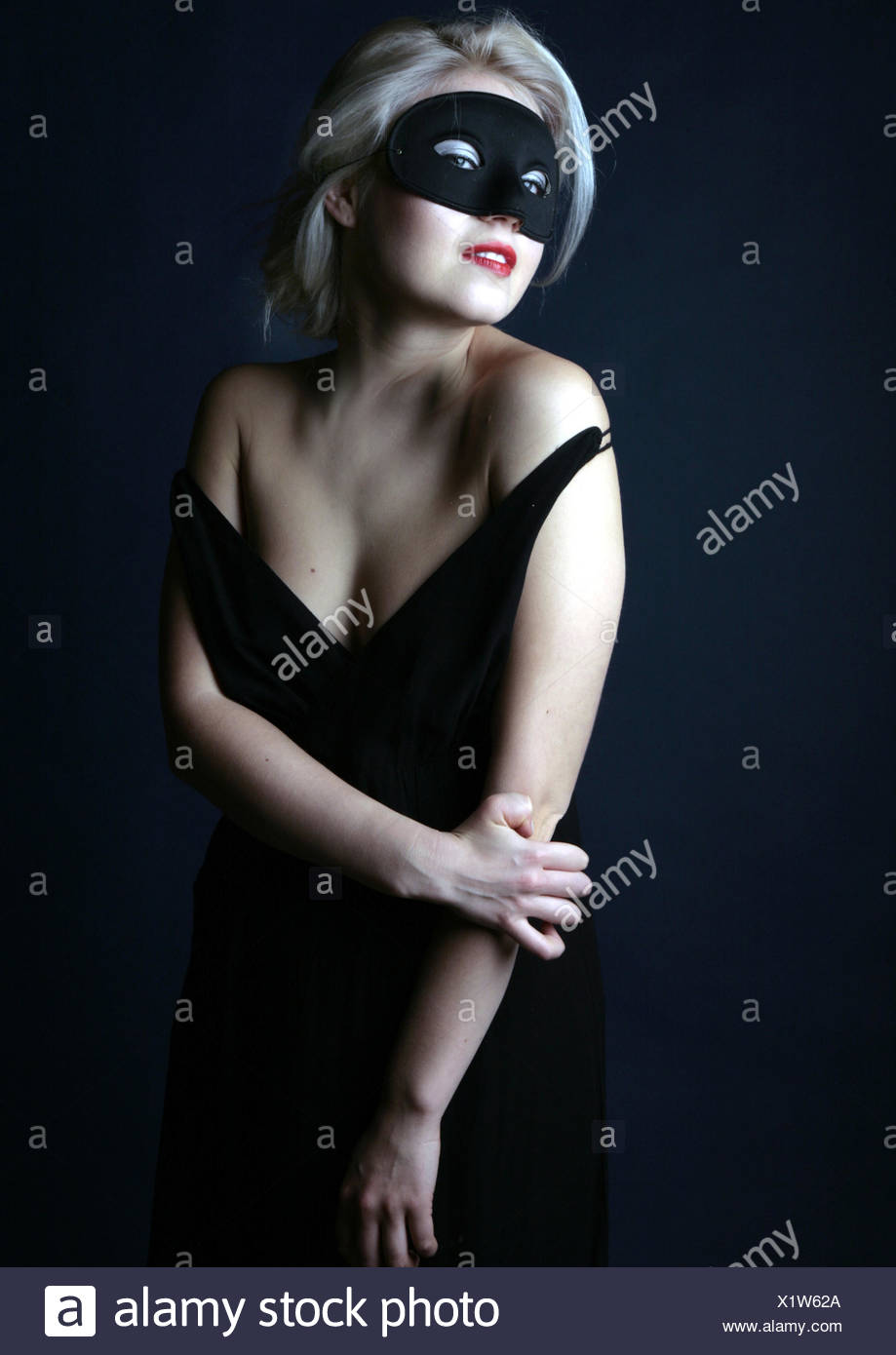 woman with mask - Stock Image