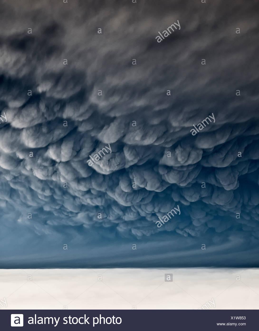 Under Grimsvotn Volcanic Eruption in the Vatnajokull Glacier, Iceland - Stock Image