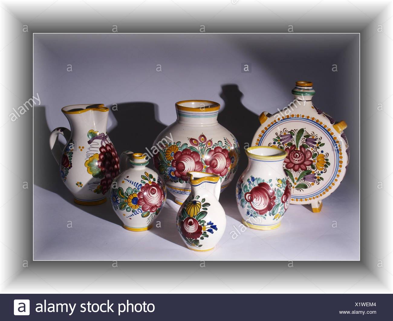 folk pottery Stock Photo
