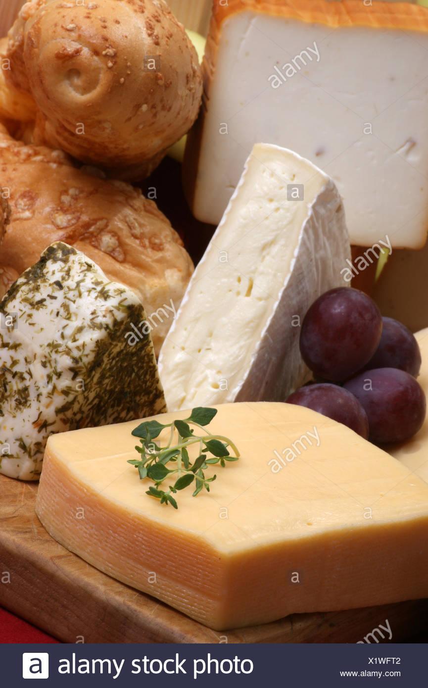 a cheese plate with cheeses & a cheese plate with cheeses Stock Photo: 276541778 - Alamy