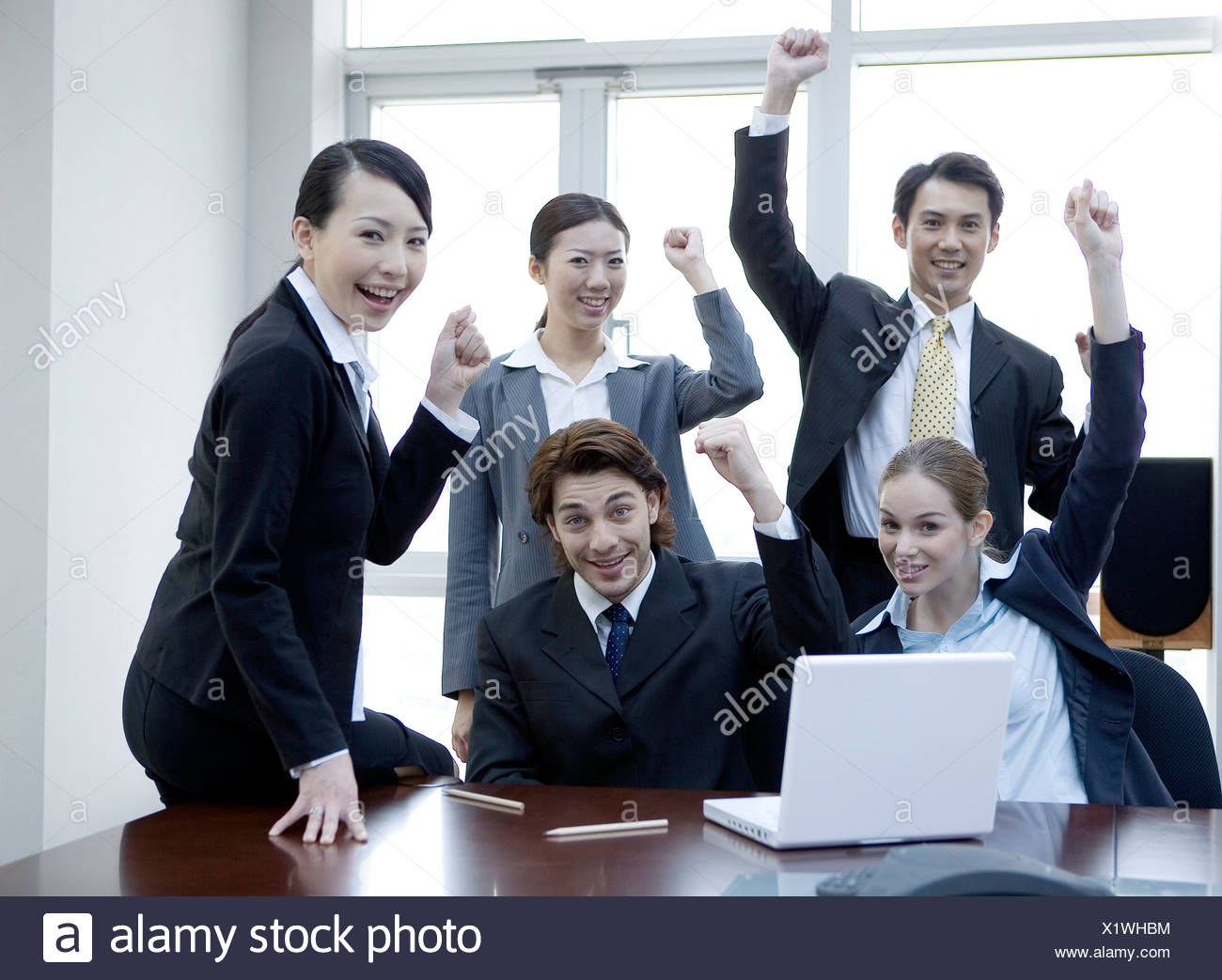 business teamwork disussing meeting - Stock Image