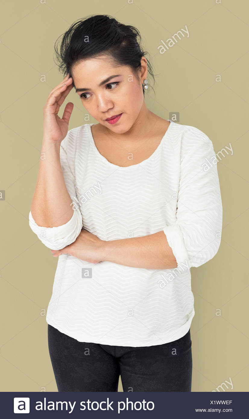 0d68d1ad44a Asian Girl Moody Upset Concept Stock Photo  276549351 - Alamy