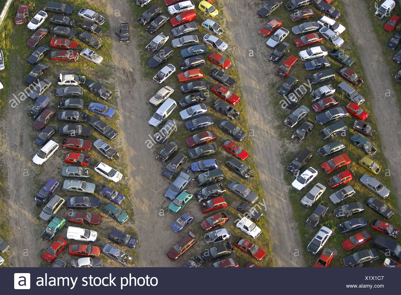 Car scrap. Morup. Halland. Sweden - Stock Image