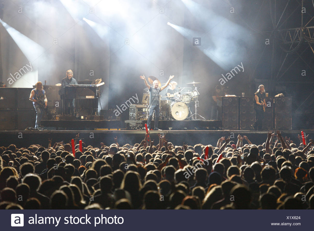 Deep Purple, English rock band, Open Air Festival, Muehldorf am Inn, Bavaria, Germany Stock Photo