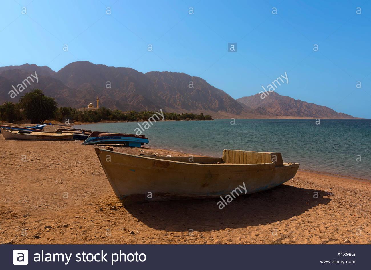 the fishermen's beach of nuweiba - Stock Image