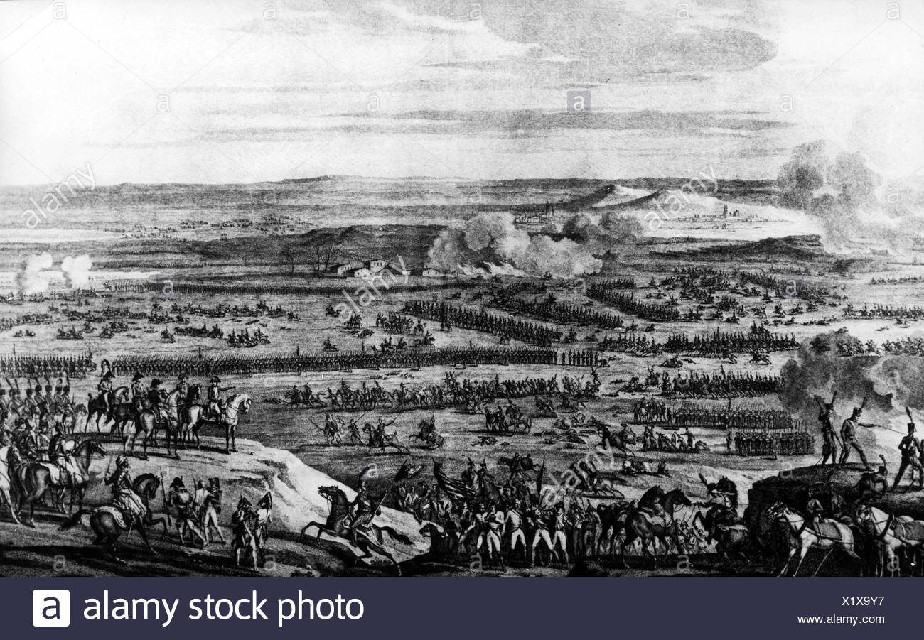 events, War of the Third Coalition 1805, Battle of Austerlitz, 2.12.1805, copper engraving by Duplessis Bertaux after drawing by Carle Vernet, 19. Jahrhundert, , Additional-Rights-Clearances-NA - Stock Image