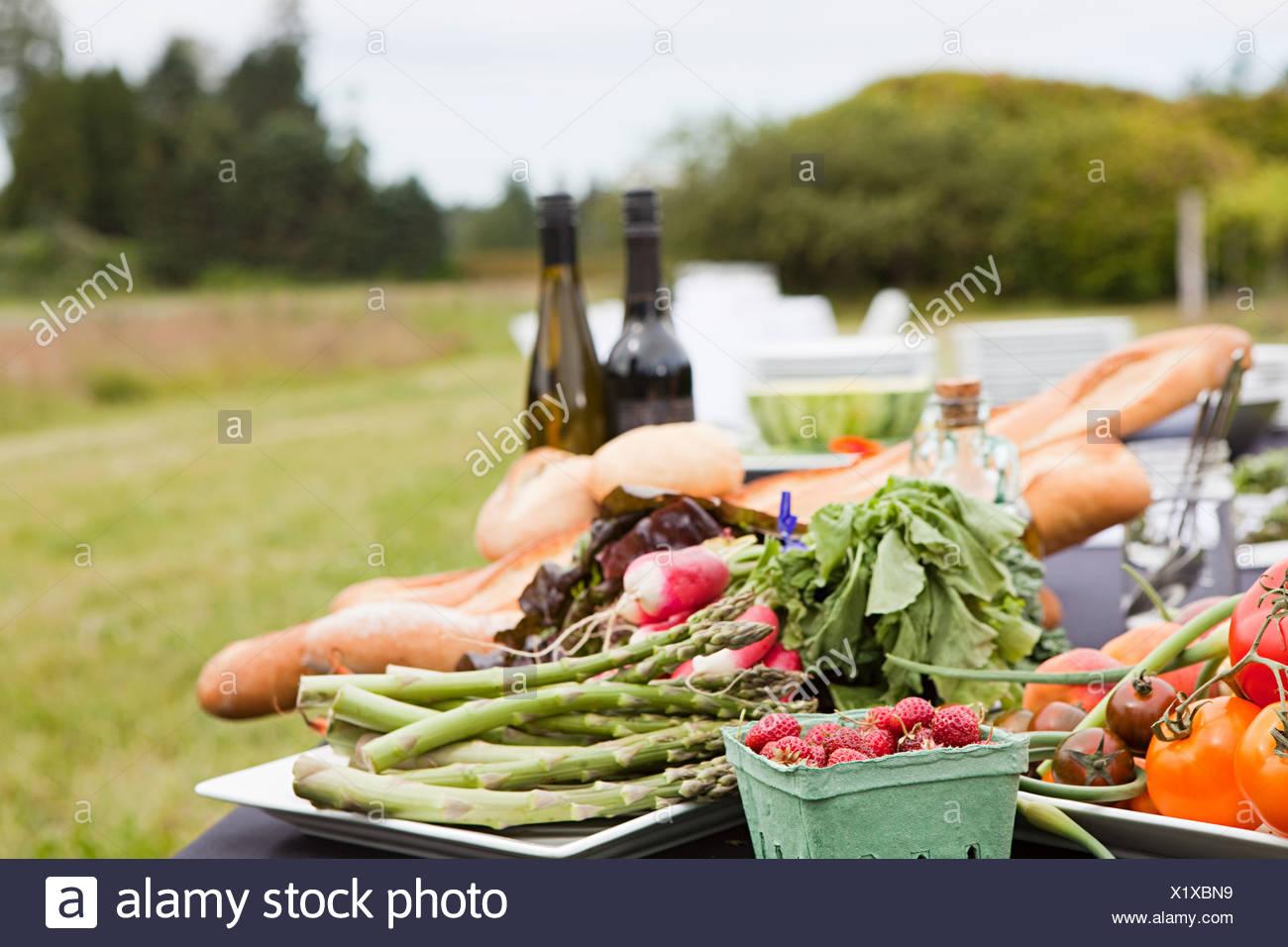 Fresh farm produce Stock Photo