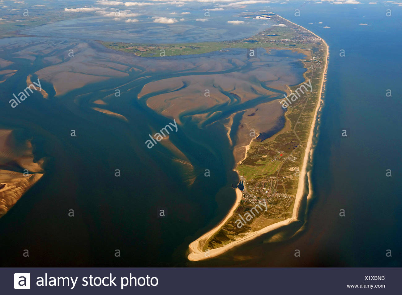 Aerial View Island Of Sylt Sylt Schleswig Holstein Germany