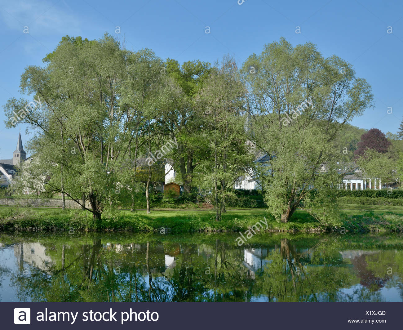 Herchen,River Sieg,Germany Stock Photo