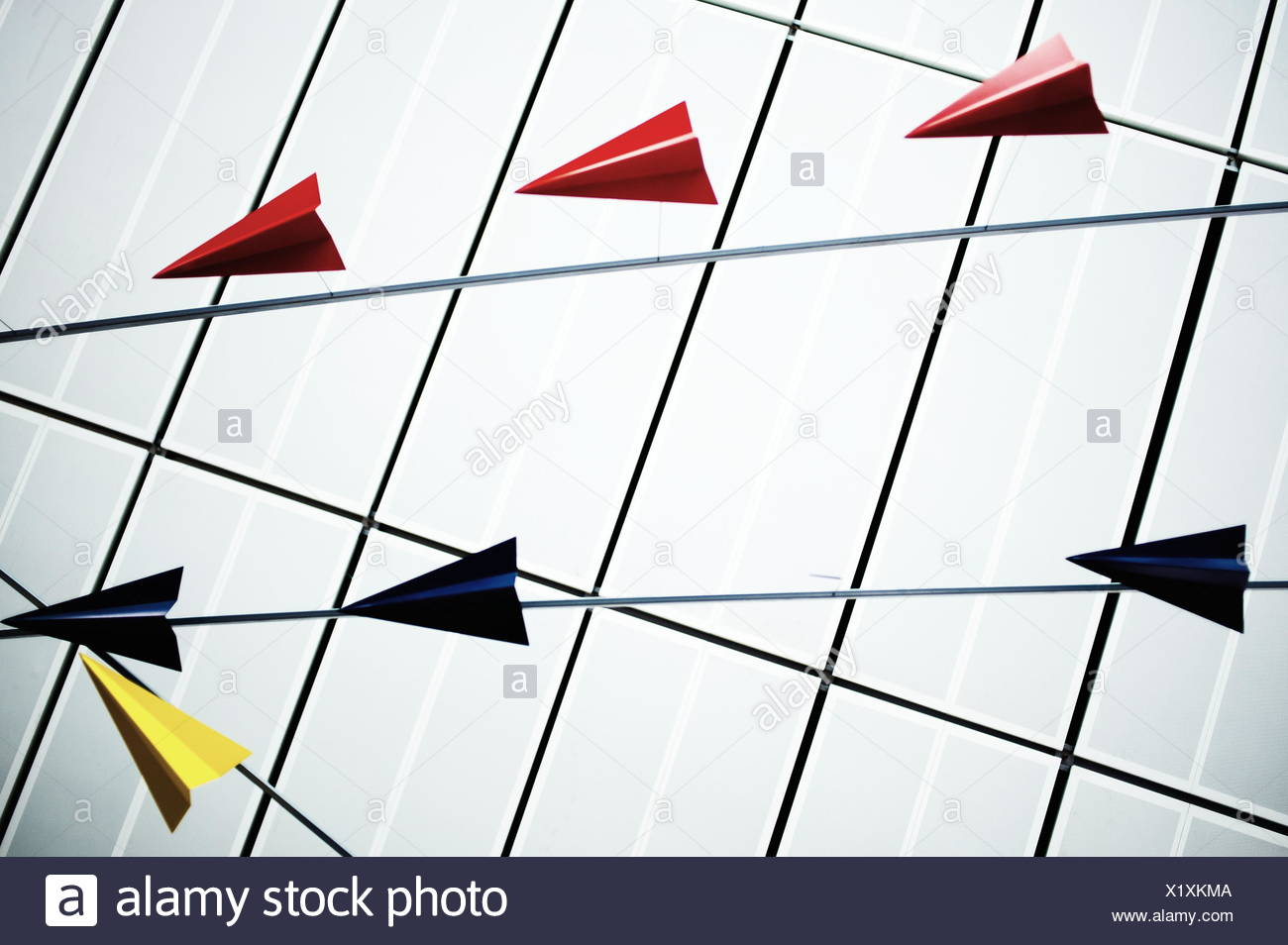 Origami Planes - Stock Image
