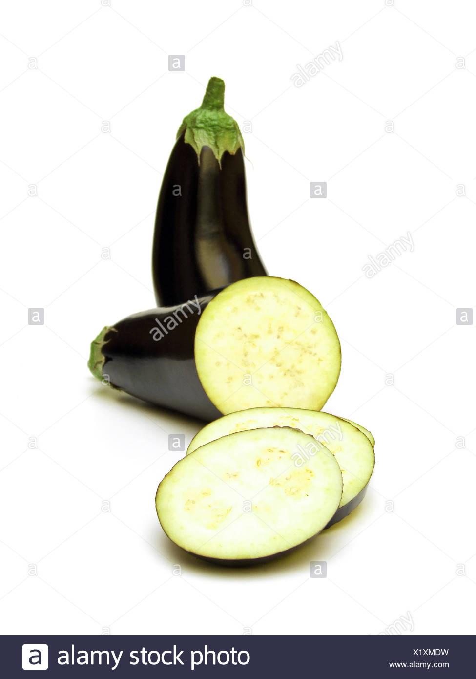 eggplant (Solanum melongena) - Stock Image
