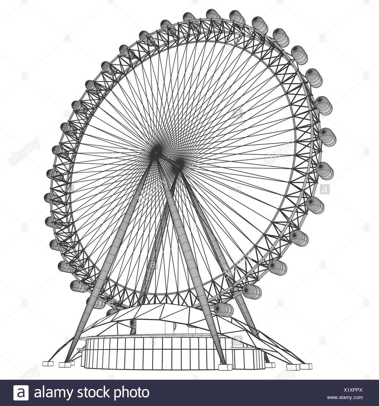 Round Carousel Stock Photo