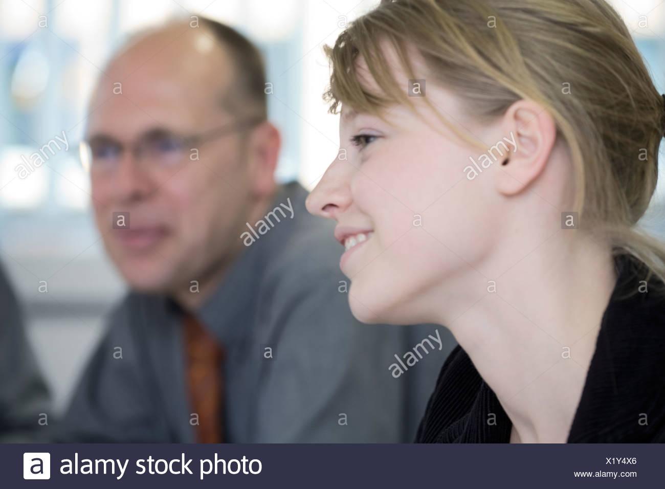 Team, office, meeting Stock Photo