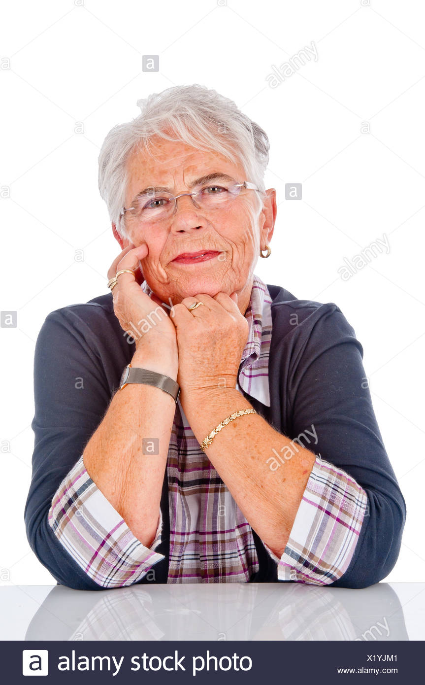 lucky pensioner - Stock Image