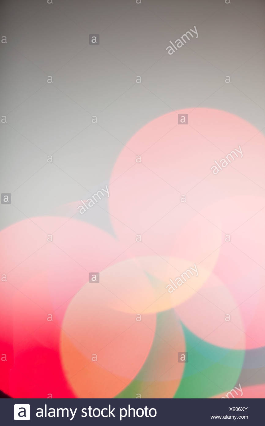 Defocussed multi colored lights, close up - Stock Image
