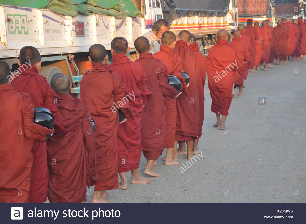 monk parade - Stock Image