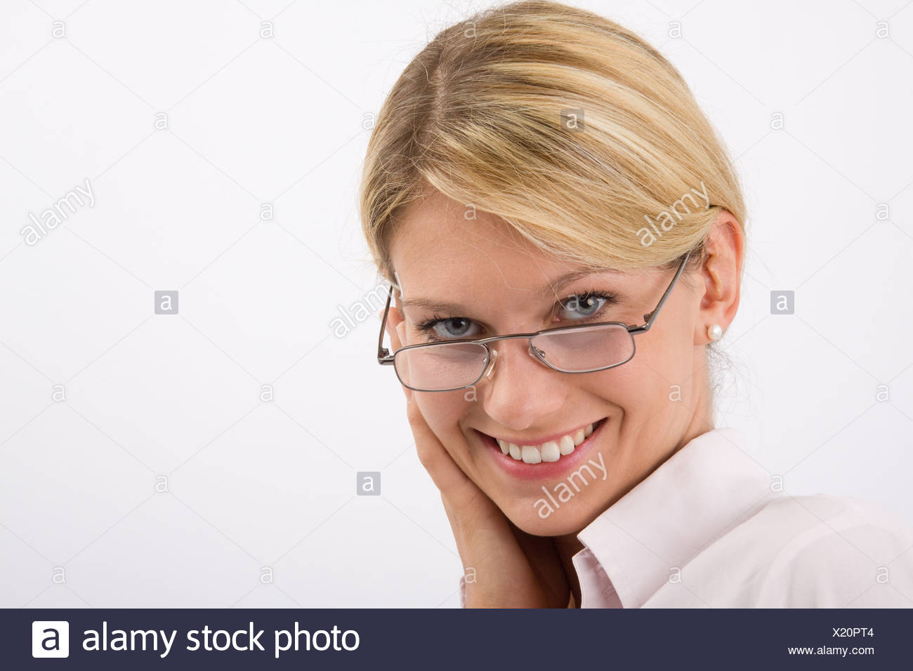 Eva laughing - Stock Image