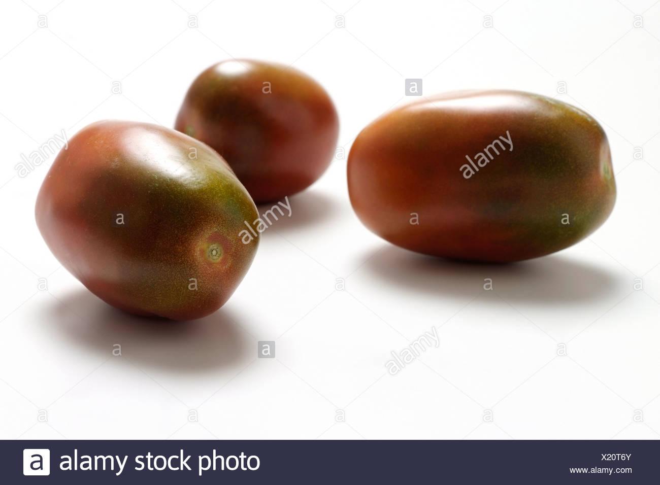 Tomato varieties: Black Plumtomato - Stock Image