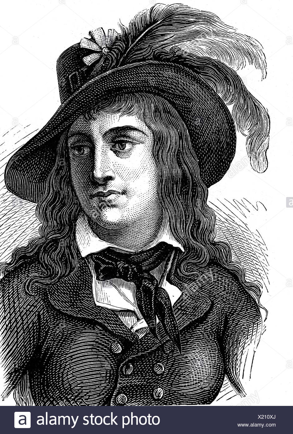 Mericourt, Theroigne de, 13.8.1762 - 9.6.1817, French evolutionary and women's rights' activist, portrait, wood engraving, late 19th century, Additional-Rights-Clearances-NA - Stock Image