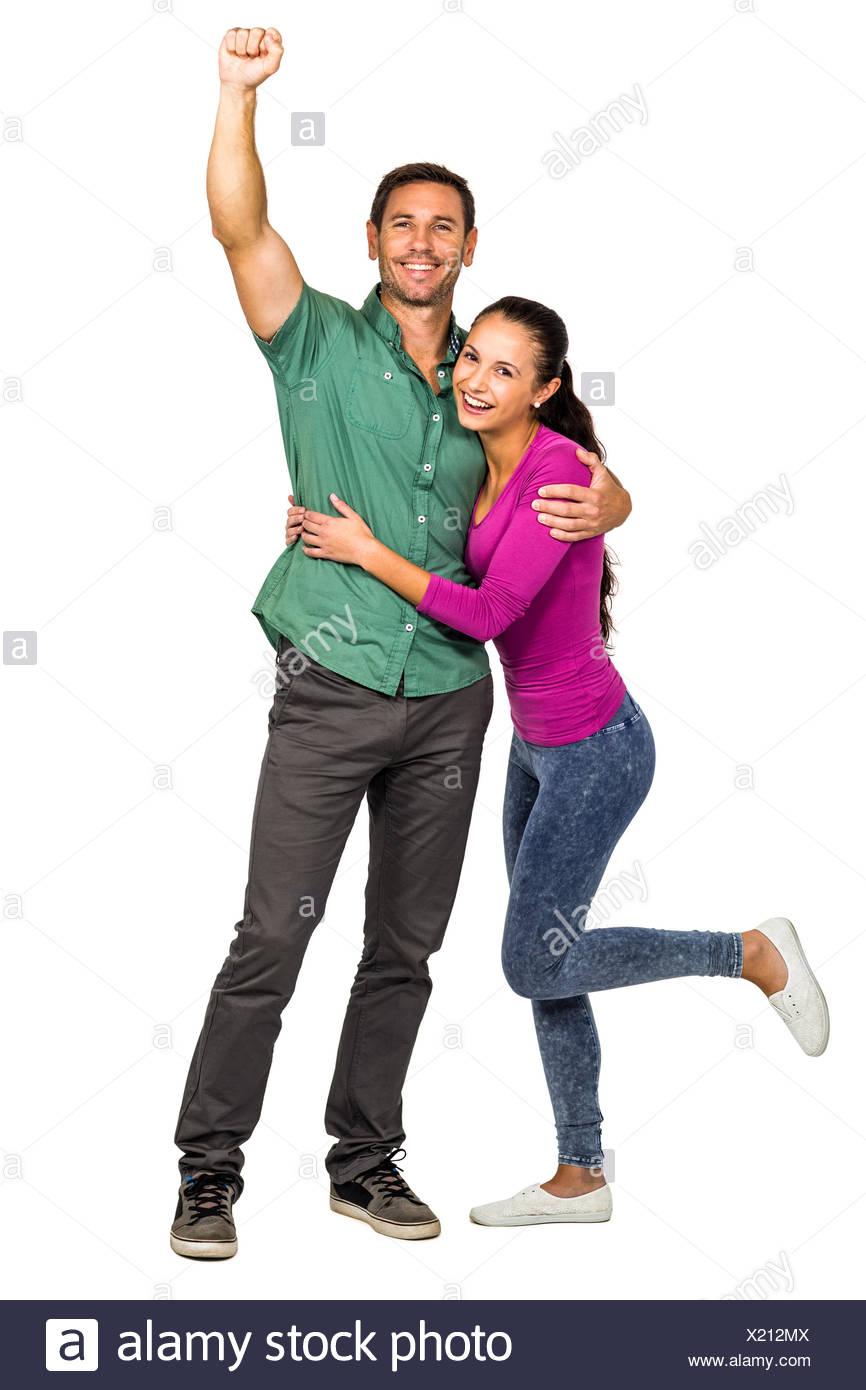 Happy couple rejoicing Stock Photo