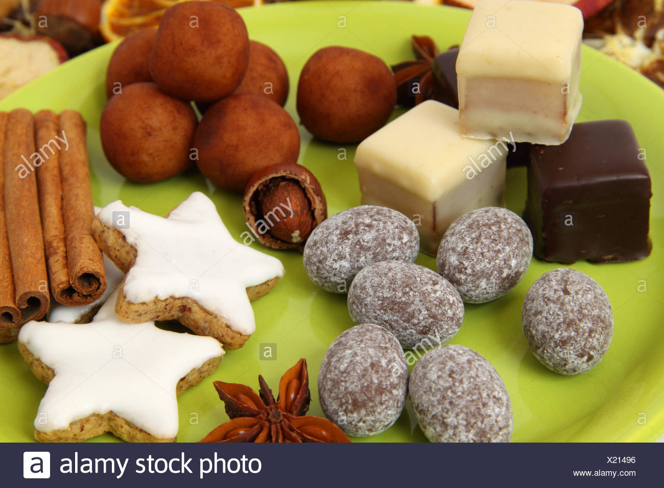 Pastry Christmas Cookies Marzipan Sweets Nuts Filberts Spices