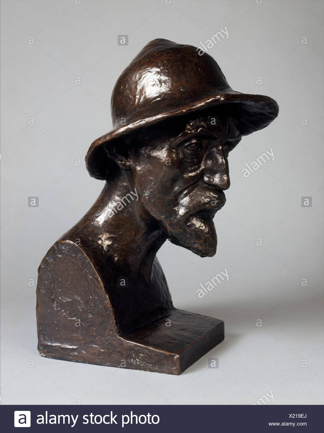 Portrait of Auguste Renoir. Artist: Aristide Maillol (French, Banyuls-sur-Mer 1861-1944 Perpignan); Date: modeled probably 1906 or 1907, cast - Stock Image