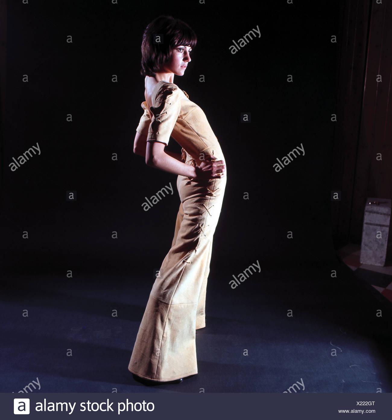 Female Fashion Model 1970s - Stock Image