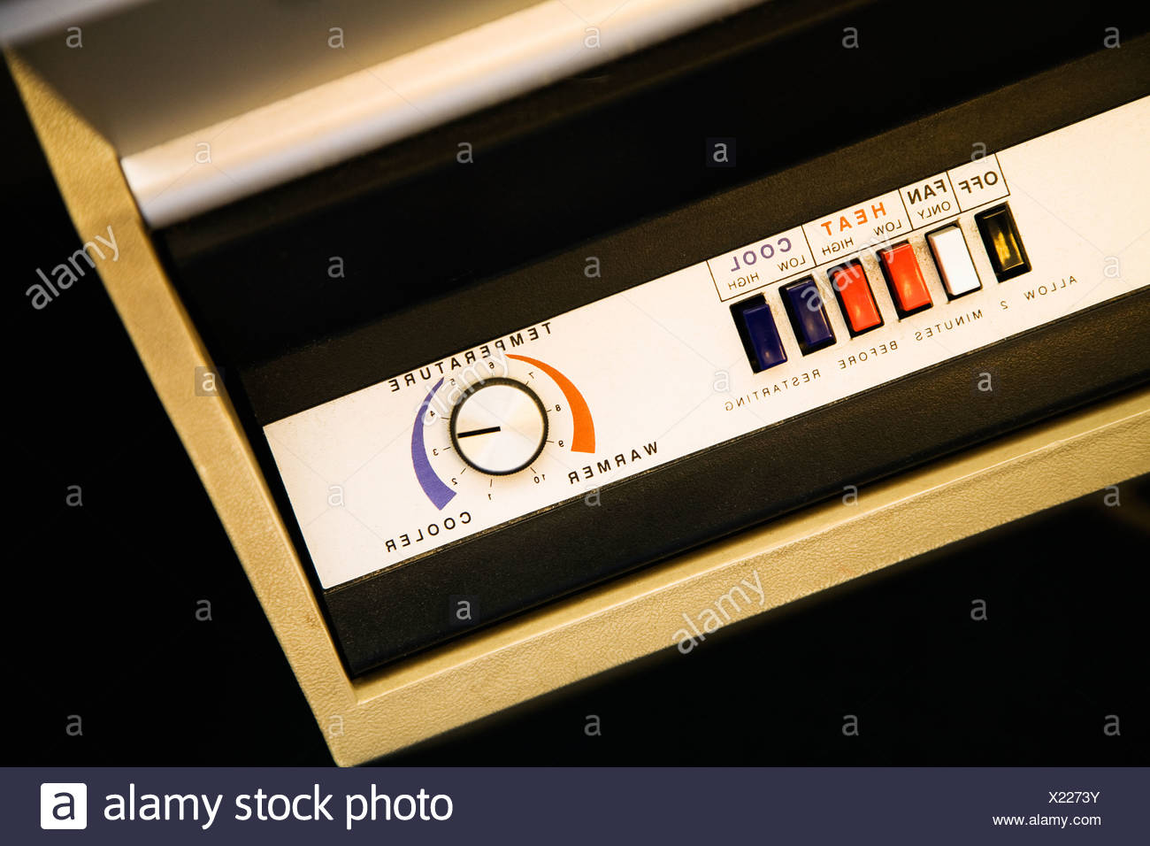 Retro Control Panel Stock Photos Images Old Style Air Conditioner Fuse Box Close Up Of Conditioning Unit Image