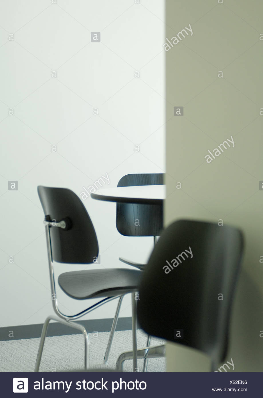 Astonishing Empty Table And Chairs In Office Break Room Close Up Stock Interior Design Ideas Gentotryabchikinfo