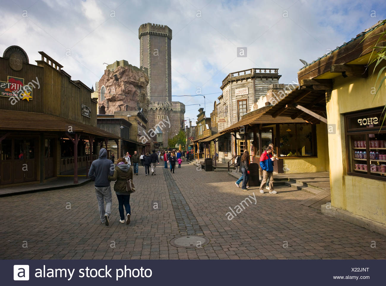 Phantasialand, amusement park, attraction MYSTERY CASTLE, Bruehl, Nordrhein-Westfalen, Germany, Europe Stock Photo
