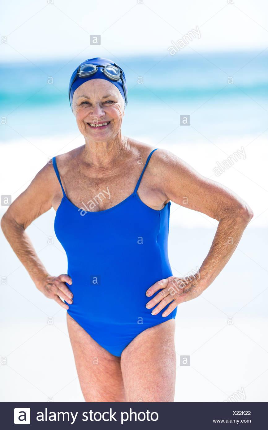 Amateur one piece bathing suit