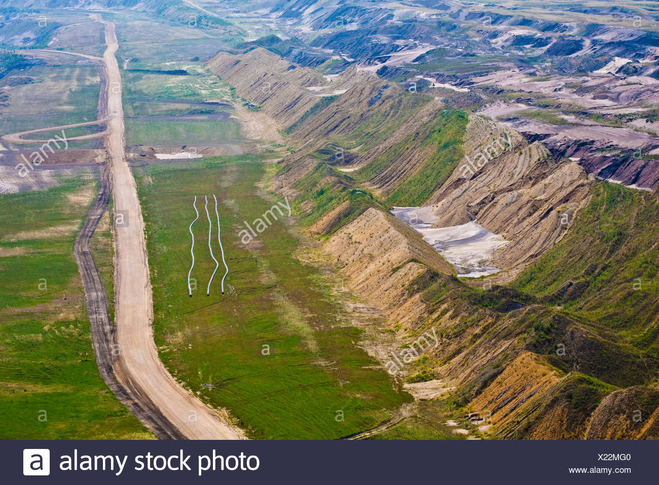 opencast,garzweiler,pit mine,brown coal district - Stock Image