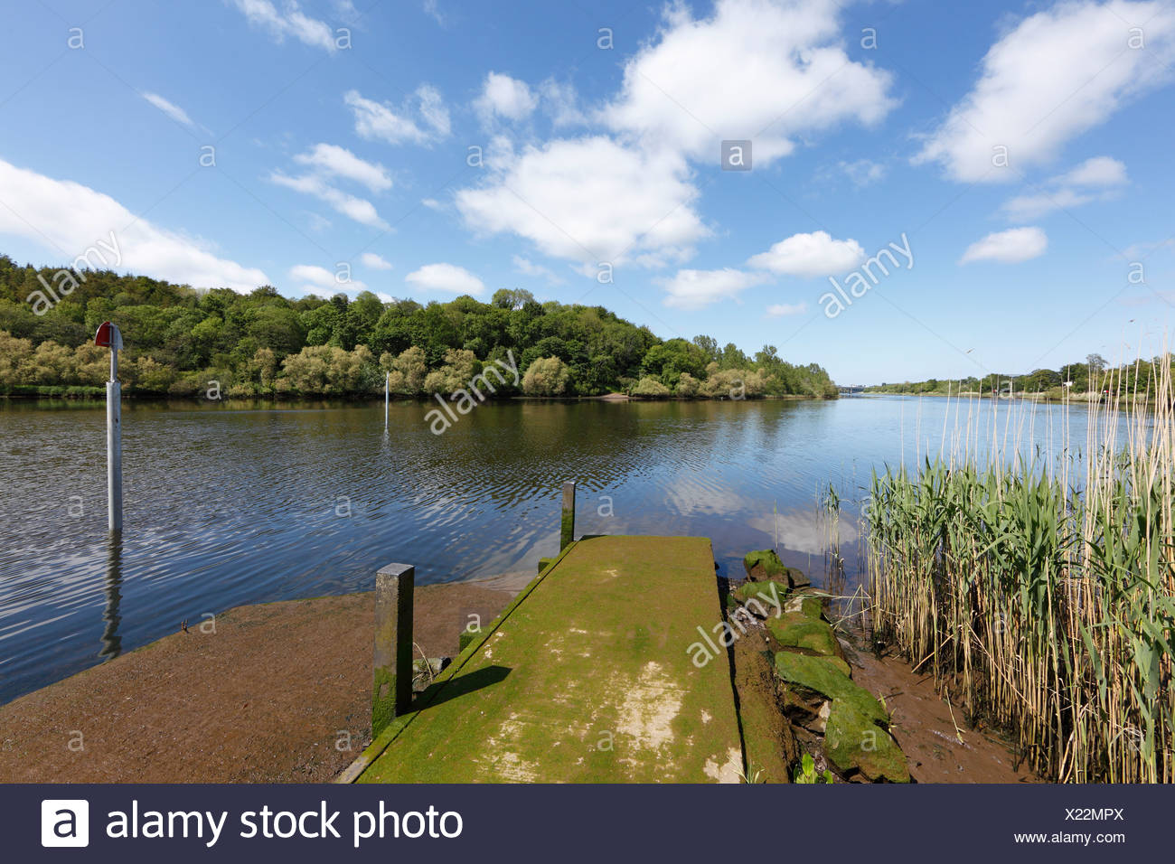 River Bann near Coleraine, County Derry, Northern Ireland, Great Britain, Europe - Stock Image