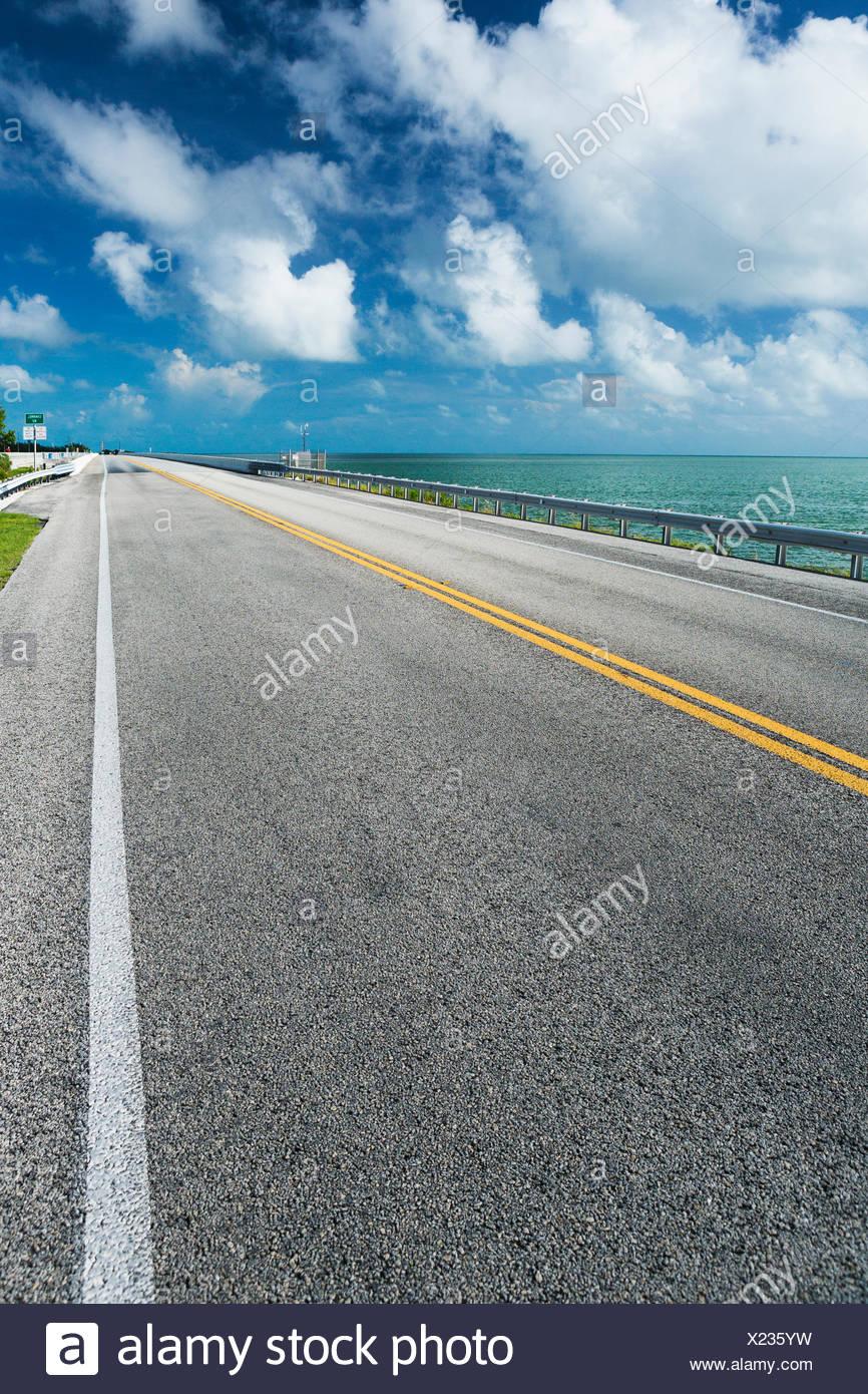 USA, Florida, Key West, Road on sunny day - Stock Image
