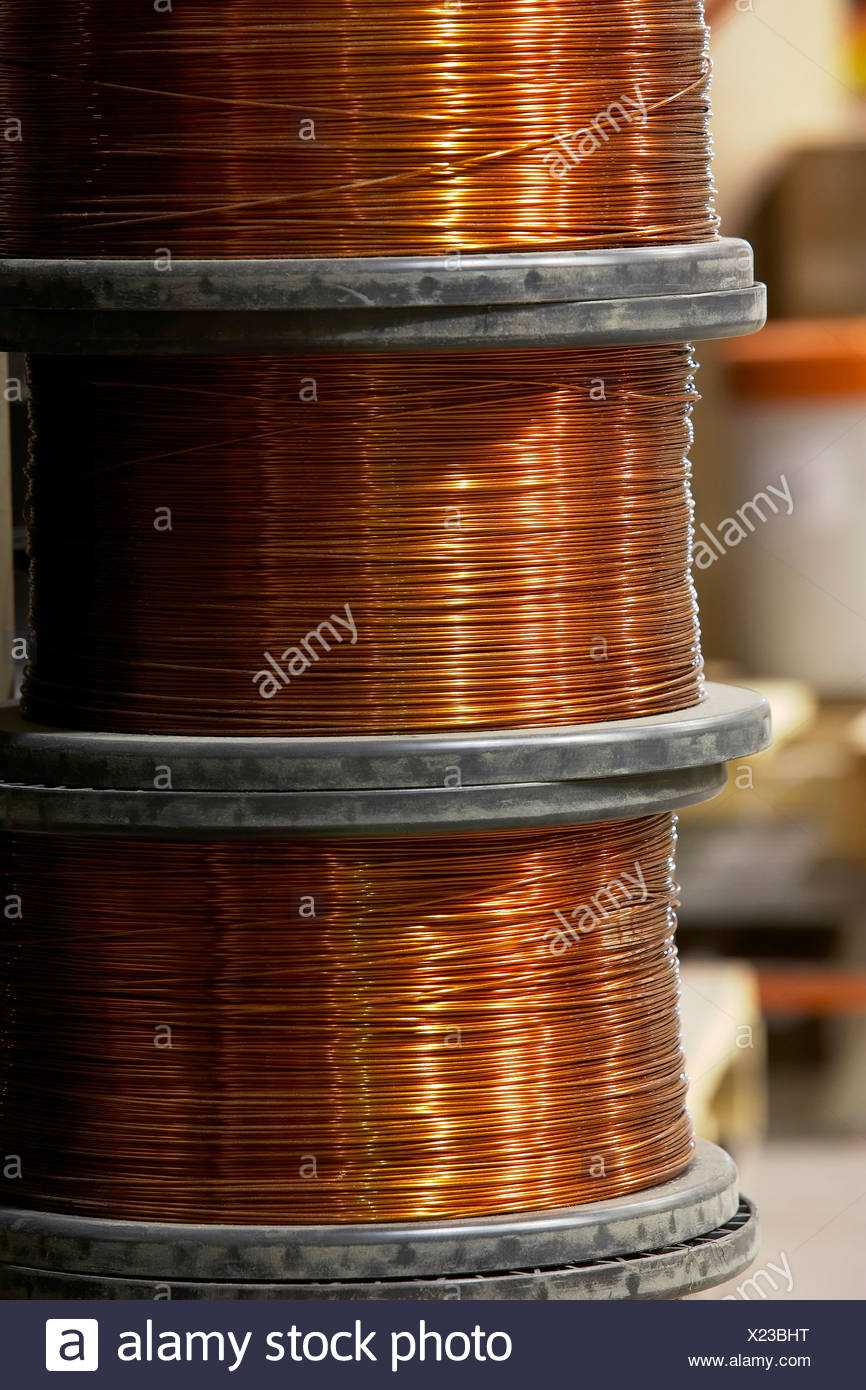 Spools Of Copper Electrical Wire Office Visio For Mac Mile 14gauge Galvanized Electric Fence Wire317774a The Home Depot Stock Photos Images Detail X23bht Spoolshtml