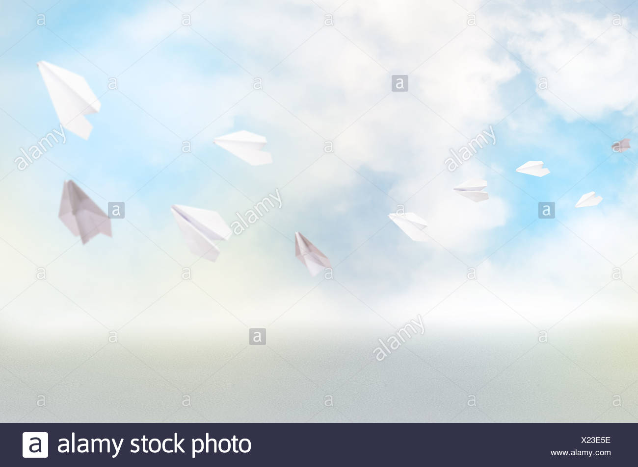 Paper airplanes - Stock Image
