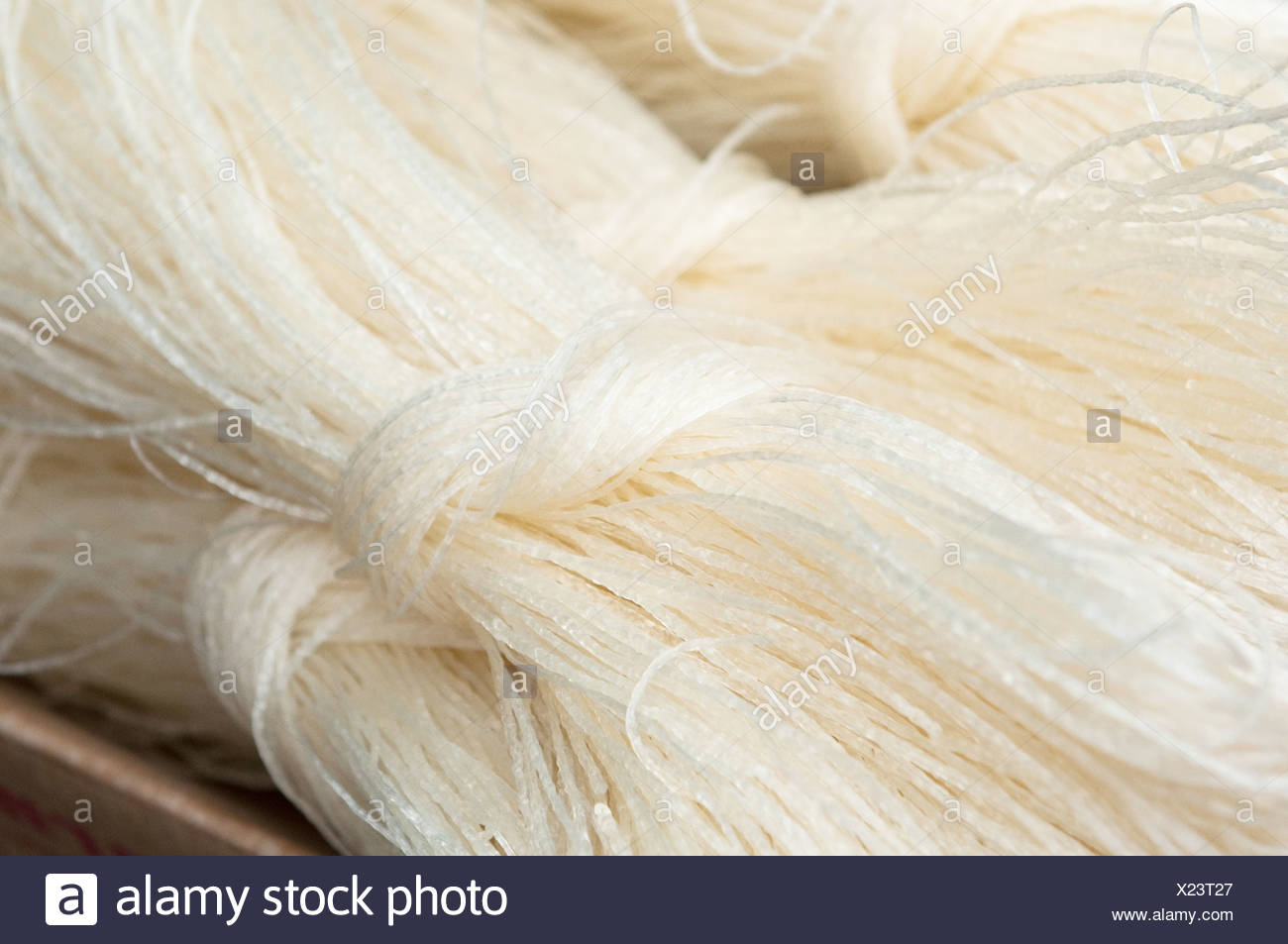 chinese rice noodles - Stock Image