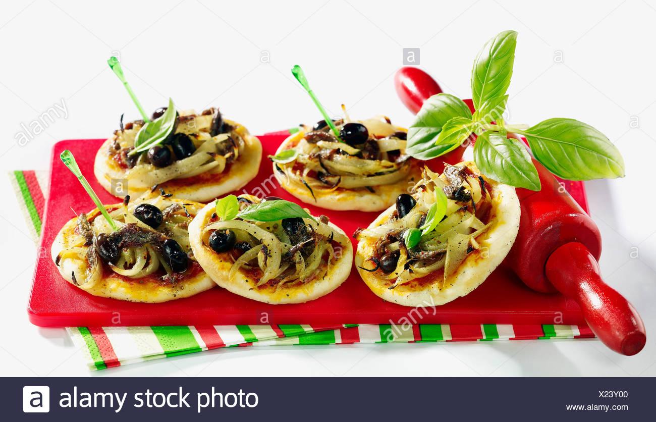 Pizza pissaladire - Stock Image