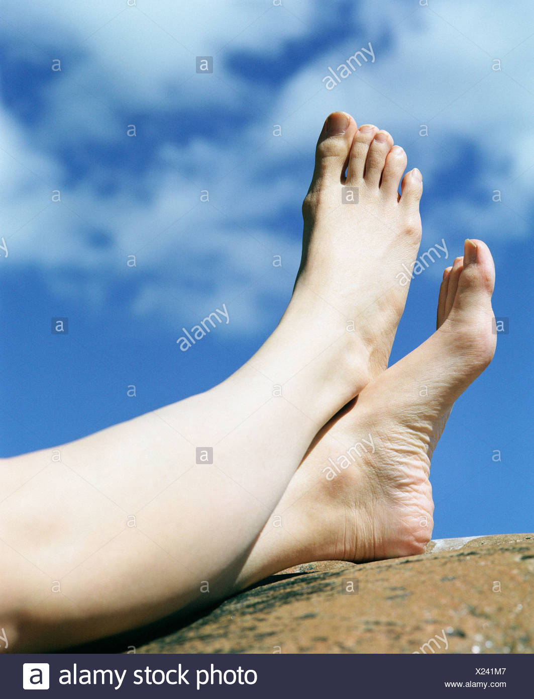 Close up of human leg - Stock Image