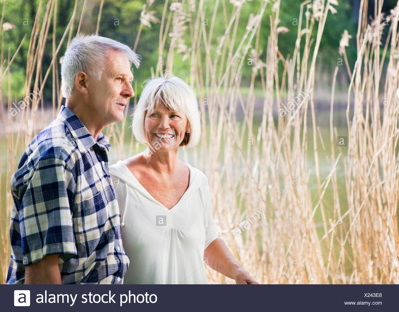 Old couple on a stroll - Stock Image
