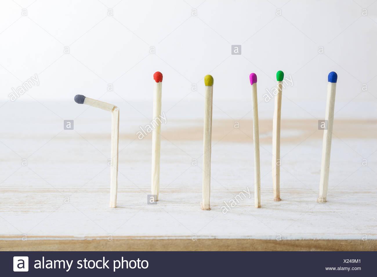 Matches, Concept, Depression - Stock Image