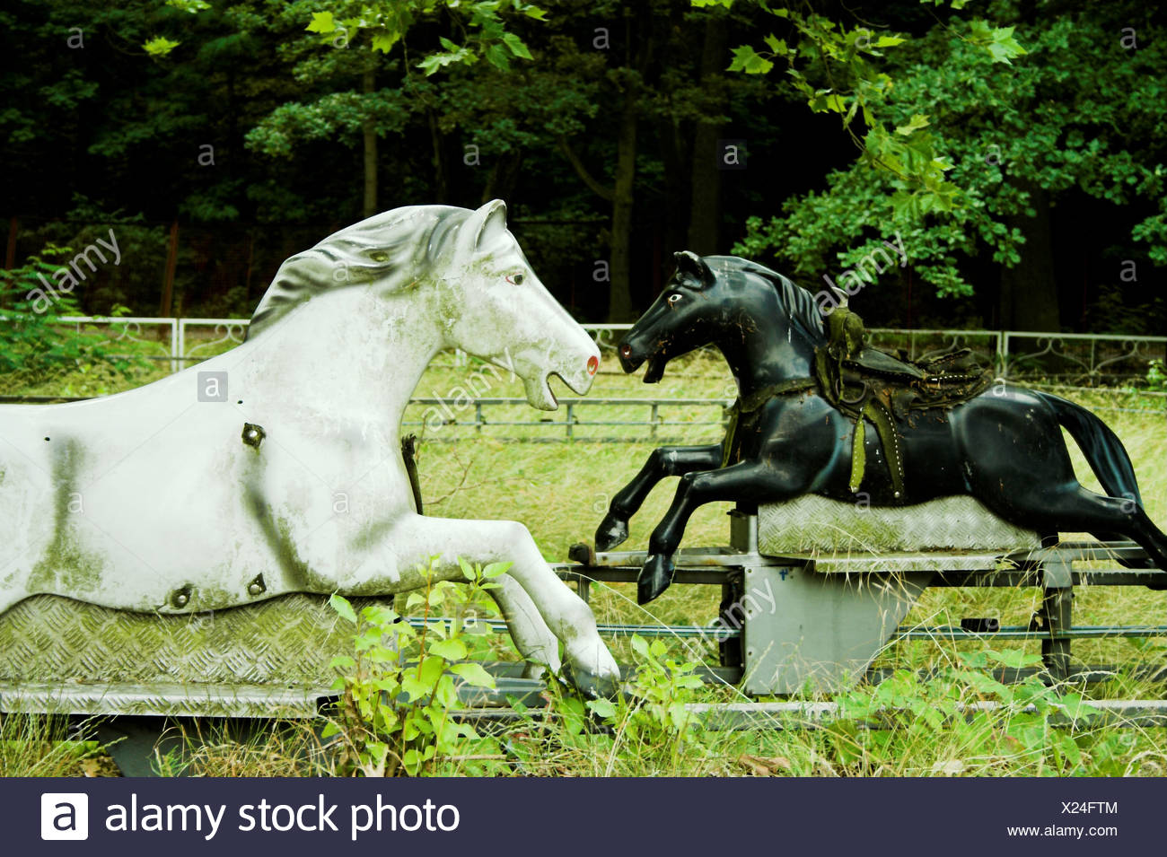 ailing,ride,horse figure - Stock Image