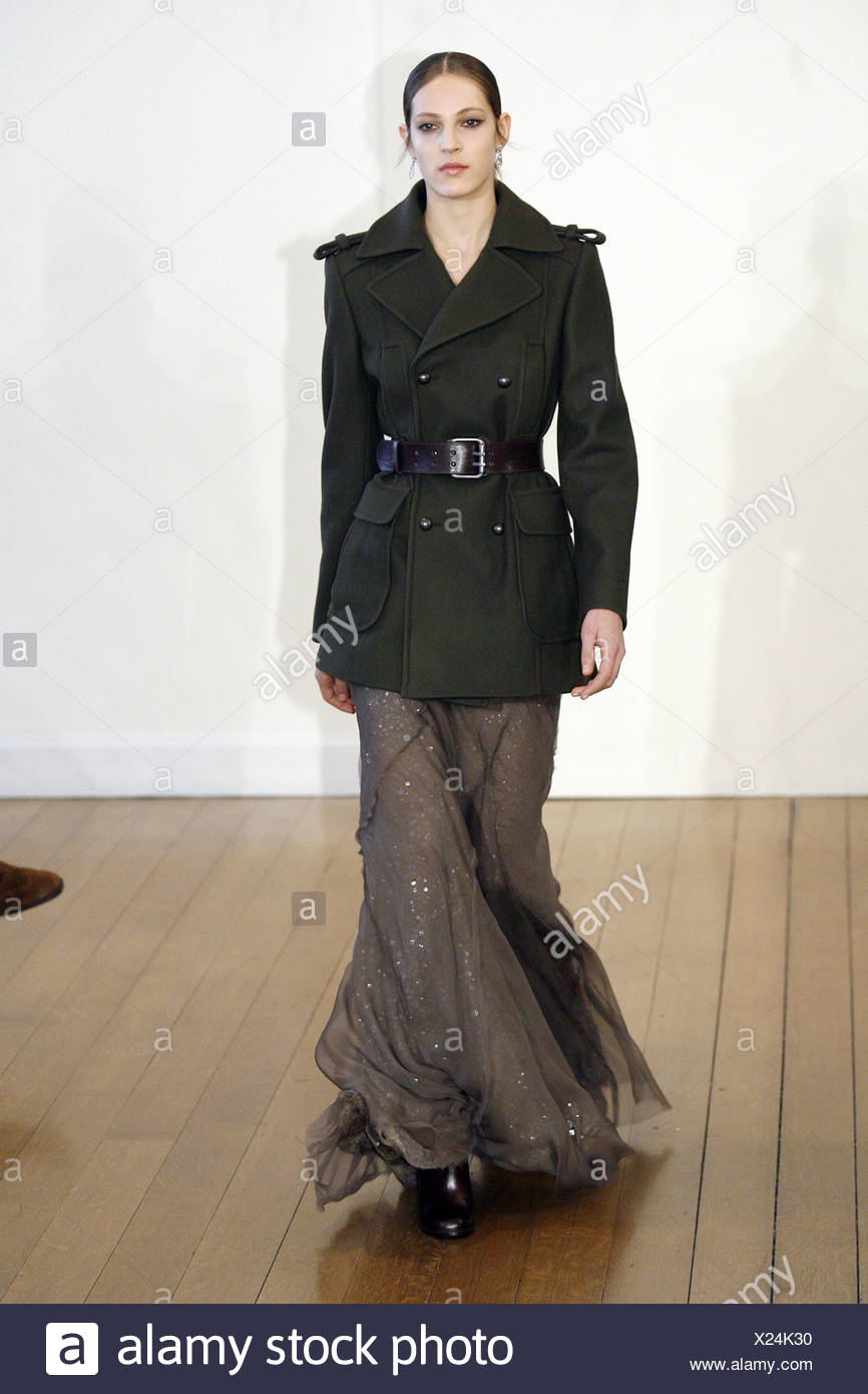 f44ef7637e9 Philosophy di Alberta Ferretti New York Ready to Wear Autumn Winter Brown  ankle length layered skirt