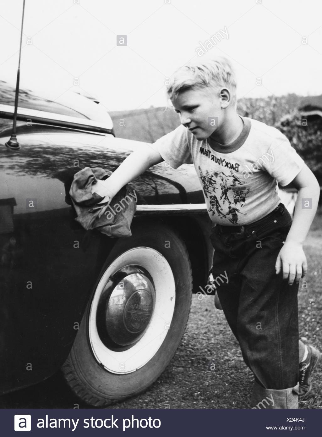 Washing the car - Stock Image