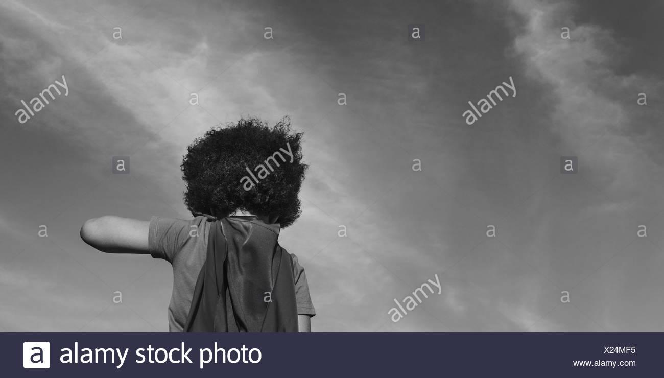 Little Boy Super Hero Concept - Stock Image