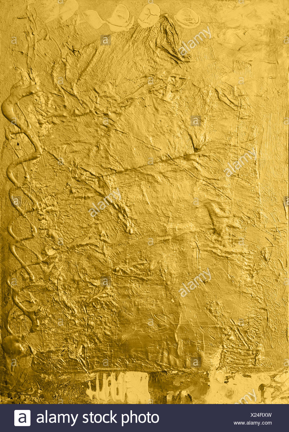 gold background - Stock Image