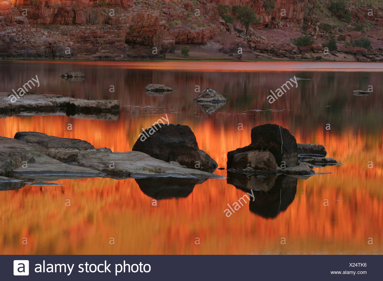 Dimond Gorge, Mornington Sanctuary, Kimberley region, Western Australia - Stock Image