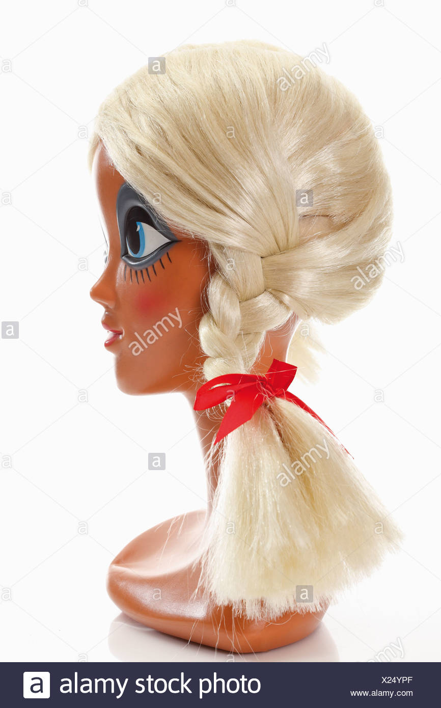 Female mannequin head wearing - Stock Image