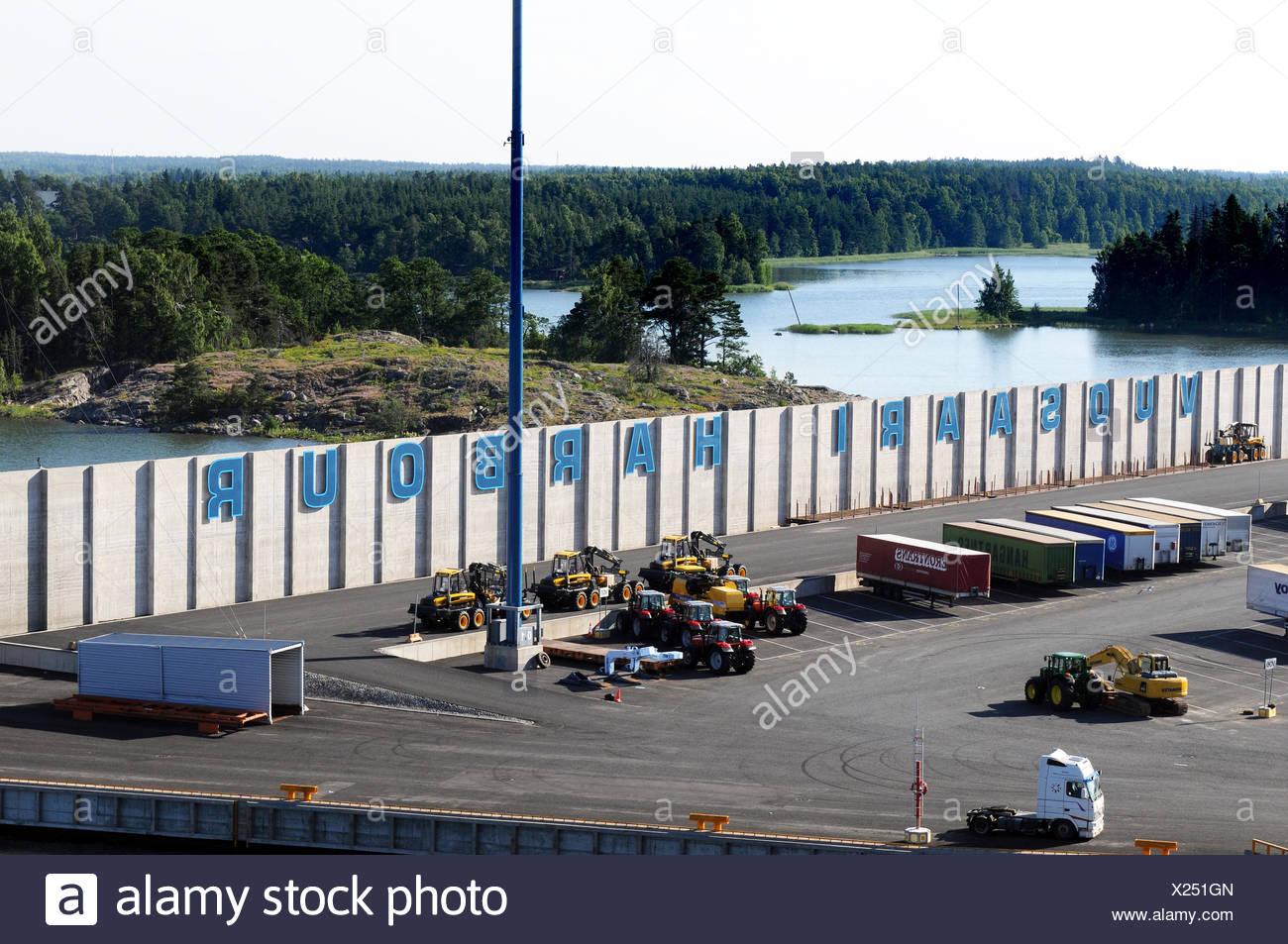 Vuosaaren satama / Vuosaari harbour - Stock Image